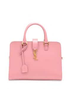 Saint Laurent Pink Monogramme Cabas Small Bag