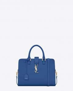 Saint Laurent Royal Blue Monogramme Cabas Small Bag
