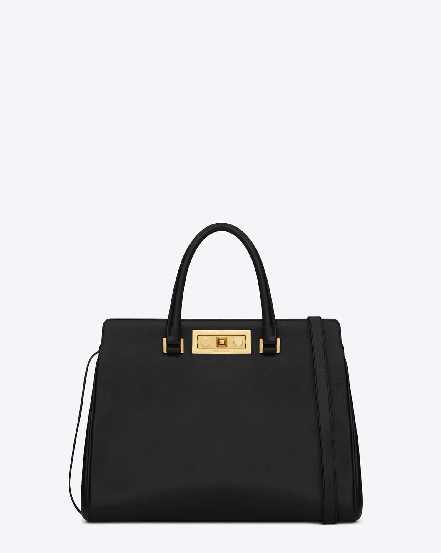 yves saint laurent messenger bag - Saint Laurent Trois Clous Tote Bag Reference Guide | Spotted Fashion
