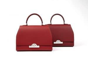 Moynat Rejane Tote Bag in Red