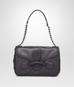 Bottega Veneta Black Micro Intreccio New Calf Rialto Bag