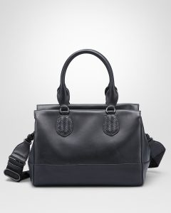 Bottega Veneta Black New Calf Ducale Bag
