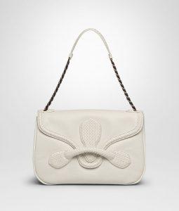 Bottega Veneta Mist Micro Intreccio New Calf Rialto Bag
