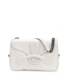 Bottega Veneta White Micro Intreccio New Calf Rialto Bag