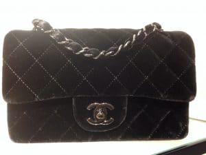 Chanel Black Mini Velvet Timeless Classic Flap Bag - Fall 2014 Act 2