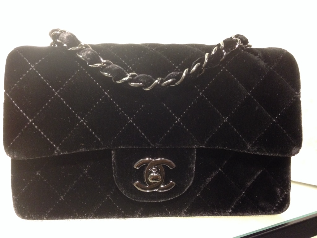 Chanel Black Mini Velvet Timeless Classic Flap Bag Fall 2017 Act 2