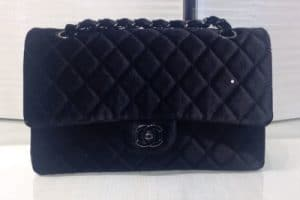 Chanel Black Velvet Classic Flap Bag - Fall 2014