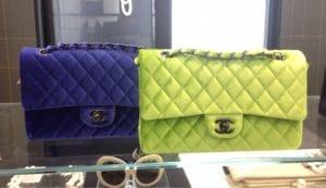 Chanel Neon Green Velvet Timeless Classic Bag - Fall 2014 Act 2