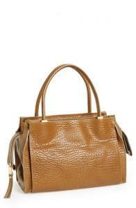 Chloe Barbour Khaki Pebbled Leather Dree Bag
