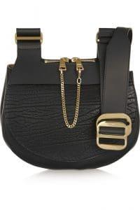 Chloe Black Drew Saddle Bag