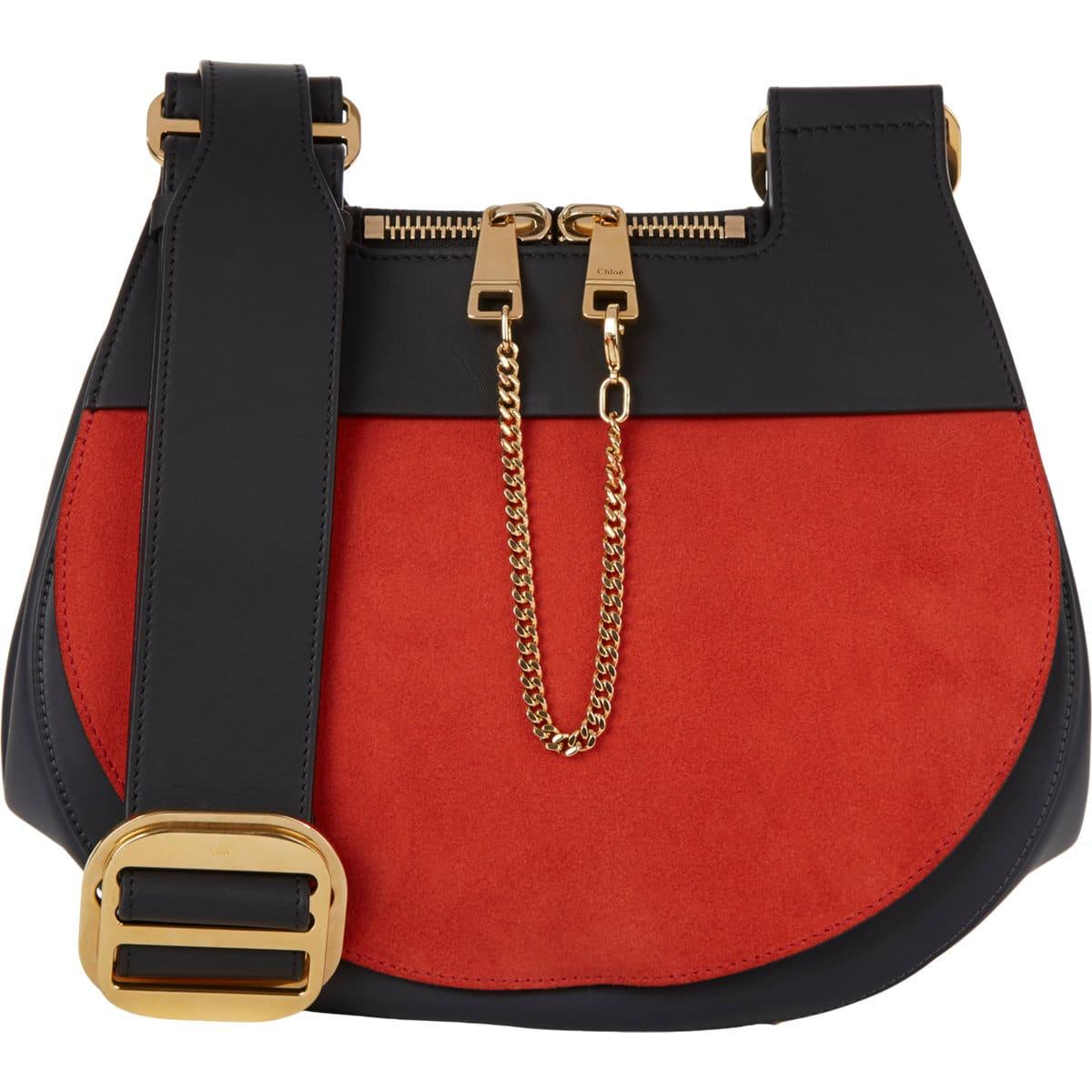 69be120aae medium saddle bag in black smooth calfskin - celine