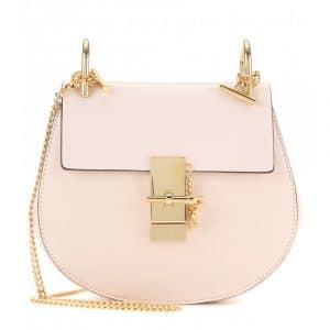 Chloe Cement Pink Drew Small Shoulder Bag