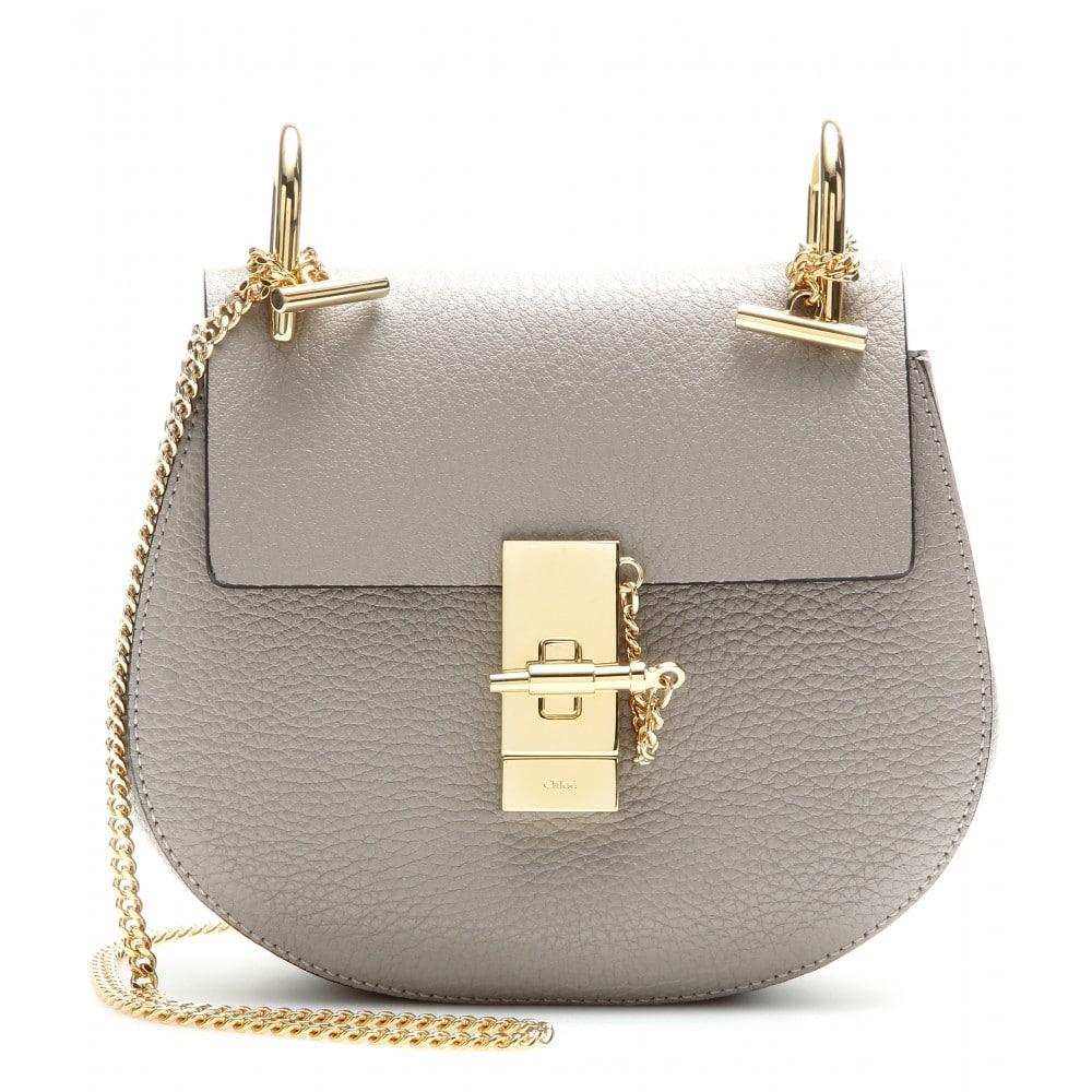 Chloe Motty Grey Drew Small Shoulder Bag