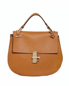 Chloe Savanna Brown Drew Large Shoulder Bag
