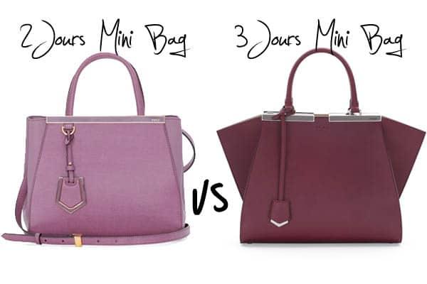 Fendi Mini Bags  2Jours Mini Bag versus Trois-Jours Mini Tote Bag 84f091eb79a1f