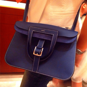 Hermes Blue Sapphire Halzan Bag 1