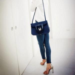 Hermes Blue Sapphire Halzan Bag 2