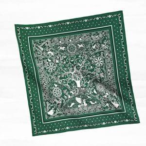 Hermes Green Peuple du Vent Bandana