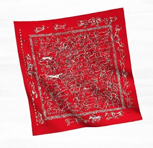 Hermes Red Ranch Bandana