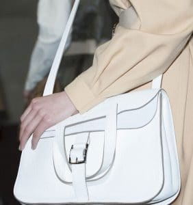 Hermes White Halzan Bag