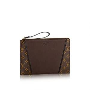 Louis Vuitton Chocolate Monogram Canvas/Veau Cachemire W Pochette Bag