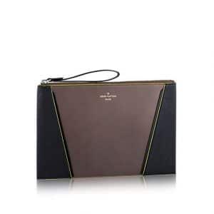 Louis Vuitton Gris Neon Cuir Orfevre/Veau Cachemire W Pochette Bag