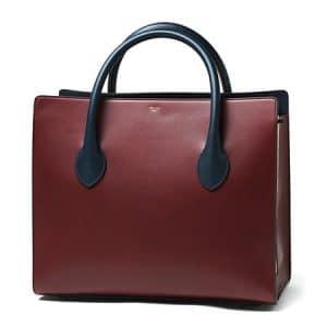Celine Burgundy Boxy Tote Bag - Fall 2014