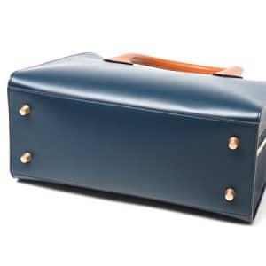 Celine Boxy Tote Bag in Navy Feet