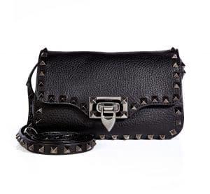 Valentino Black Ruthenium Hardware Rockstud Crossbody Bag