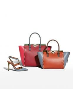 Valentino Colorblock Rockstud Tote Bag - Fall 2014 - 2