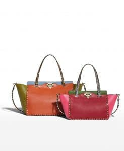 Valentino Colorblock Rockstud Tote Bag - Fall 2014