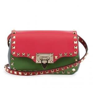 Valentino Pink/Red/Green Rockstud Crossbody Bag