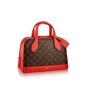 Louis Vuitton Red Dora Monogram Canvas PM Bag
