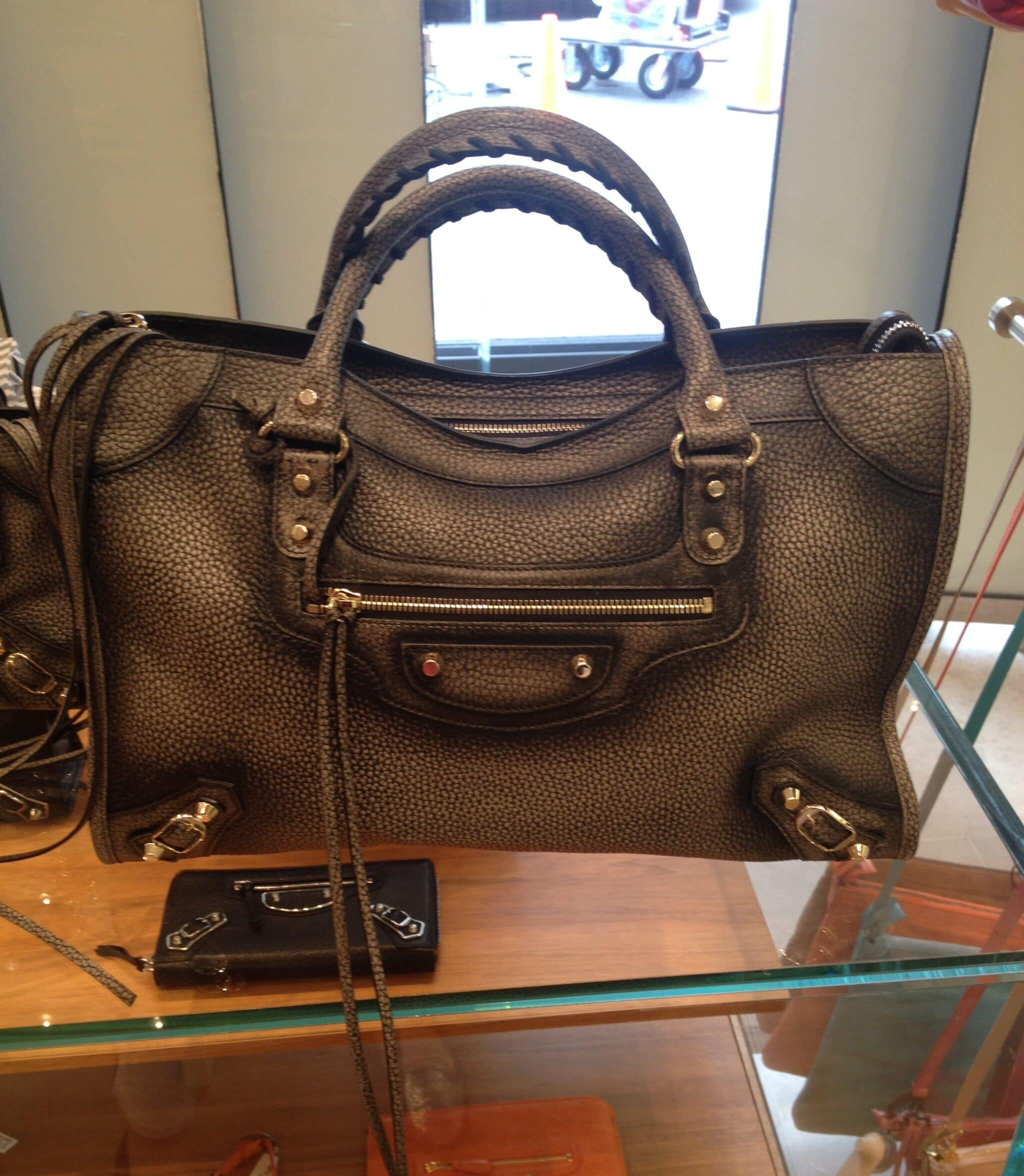 85f66b3a2480 Spotted  Balenciaga Ombré Grey City G12 Bag in Stores