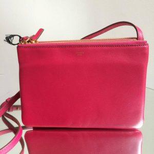 Celine Fuchsia Trio Messenger Bag