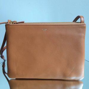 Celine Camel Trio Messenger Bag
