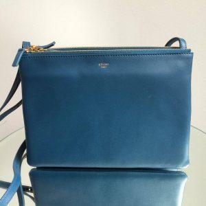 Celine Navy Trio Messenger Bag