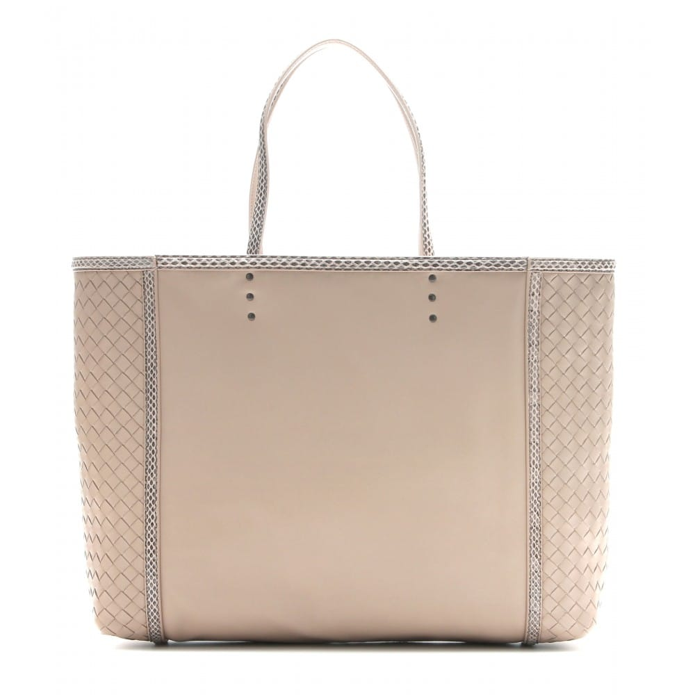 7516f822493 Bottega Veneta Snakeskin Trim Tote Bag Reference Guide