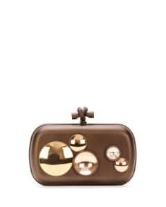 Bottega Veneta Bronze Mirror Lens Knot Clutch Bag - Fall 2014