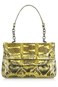 Bottega Veneta Chartreuse Mangrovia Flap Bag - Fall 2014