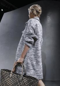 Bottega Veneta Grey/Beige Cabat Bag - Spring 2015