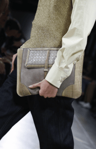 Bottega Veneta Grey/Gold Clutch Bag - Spring 2015