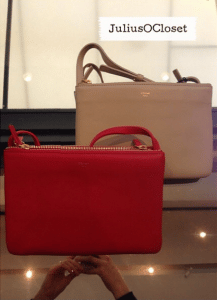 Celine Beige/Red Trio Small Bags - Fall 2014