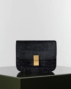 Celine Black Astrakhan Stamped Pony Calfskin Box Bag 2 - Winter 2014