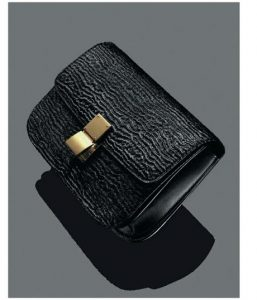 Celine Black Astrakhan Stamped Pony Calfskin Box Bag - Winter 2014