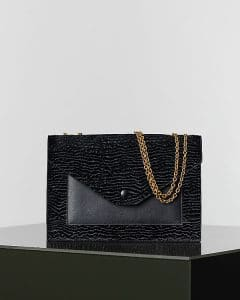 Celine Black Astrakhan Stamped Pony Calfskin Pocket Bag - Winter 2014