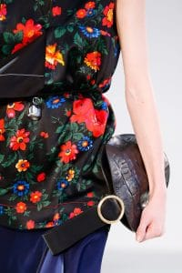 Celine Black Crocodile Bell Shape Clutch Bag 2 - Spring 2015