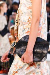 Celine Black Crocodile Bell Shape Clutch Bag - Spring 2015
