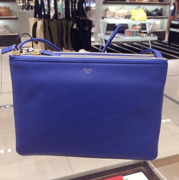 celine blue trio bag