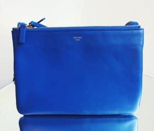 Celine Cobalt Blue Trio Bag - Fall 2014
